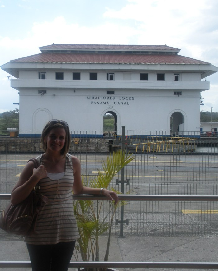 Standing outside the Miraflores Locks